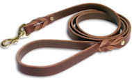 3/4'' Perfectly Plain Leather Leash for English Bulldog