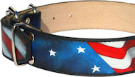 Amazing Patriotic American Flag Dog Collar for English Bulldog