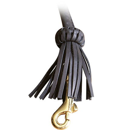 Rolled  Leather Dog Leash-4 foot Round lead for English Bulldog