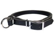 Adjustable Leather Slip Collar for English Bulldog