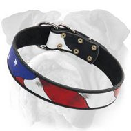 British Bulldog Best Collar - American Pride Leather Dog Collar