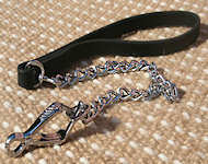 Chrome Plated Chain Dog Leash for English Bulldog