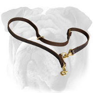 Fantastic English Bulldog Multitask Leather Leash for Any Activity