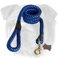 Round Nylon Leash With Brass Snap Hook for English Bulldog