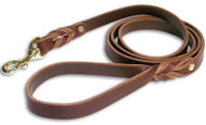 Heavy Duty Harness Leather Lead for English Bulldog