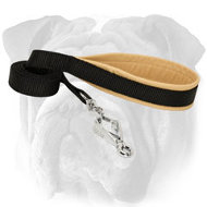 Durable Nylon English Bulldog Leash with Soft Handle