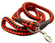 5 foot Round Nylon Leash With Brass Snap for English Bulldog