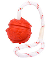 Fun Ball on a Rope for English Bulldog with Handle (2 3/4 inch)