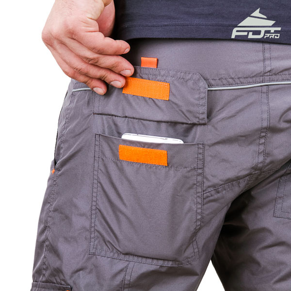 Convenient Design FDT Professional Pants with Durable Side Pockets for Dog Trainers