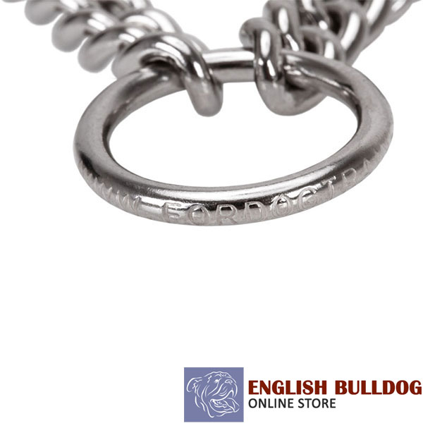 Strong prong collar with rust proof stainless steel prongs