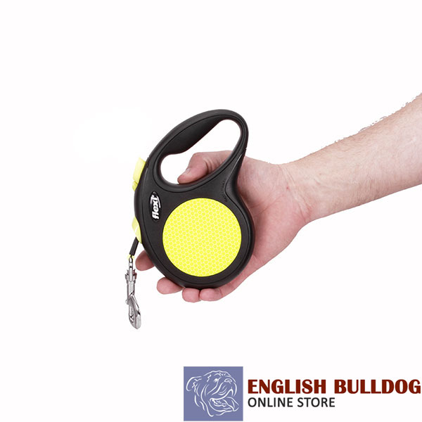 Everyday Use Retractable Leash Neon Design for Total Safety