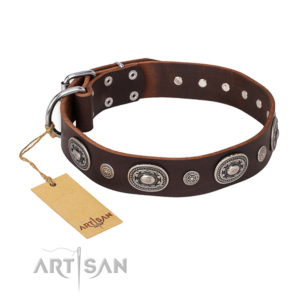Best quality genuine leather collar made for your dog