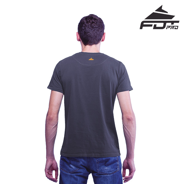 Men T-shirt Dark Grey FDT Pro for Dog Trainers