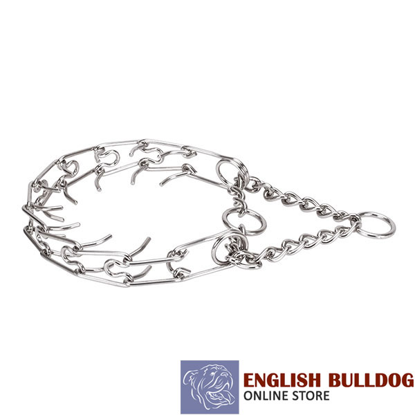 Large dogs pinch collar with stainless steel removable links