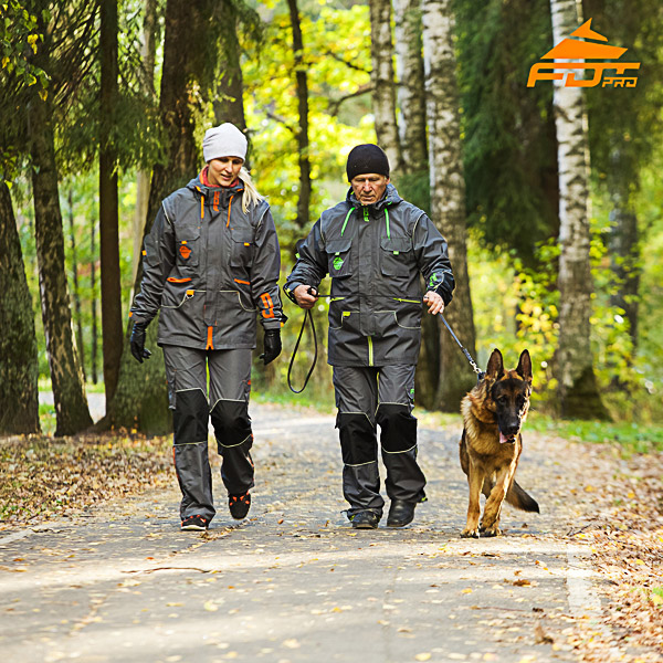 Unisex Strong Dog Training Suit for Men and Women with Reflective Trim