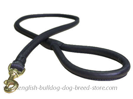 bulldog Leather Latigo Round Lead roller