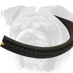 Braided Leather Collar