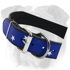 English Bulldog Leather Painted Collar