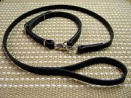 Practical Leather English Bulldog Combo (Leash and Collar)