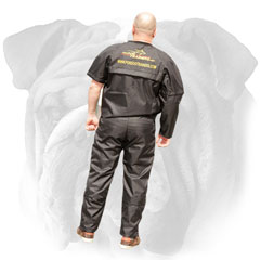 Pants and jacket for English Bulldog training