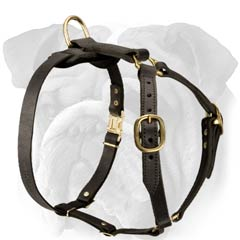 Convenient for Tracking Work Leather Dog Harness