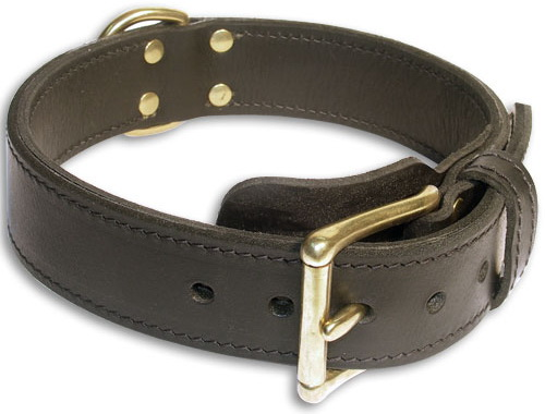 Adjustable Black collar 26'' for English Bulldog/ 26 inch dog collar- c33nh