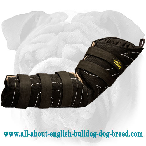 Hidden French Linen English Bulldog Bite Sleeve with Extra Plastic Reinforcement