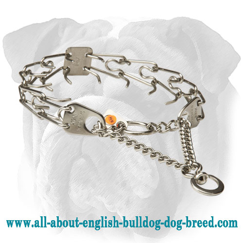 Chrome Plated Herm Sprenger English Bulldog Pinch Collar - 1/6 inch (3.99 mm)
