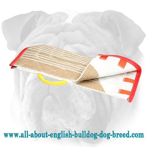 Reliable Jute English Bulldog Training Cover for Bite Sleeve with Handle
