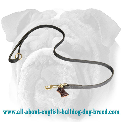Handmade Leather English Bulldog Leash
