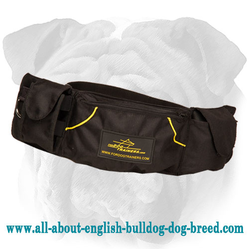 Quick Reward English Bulldog Training Nylon Pouch for Treats and Toys