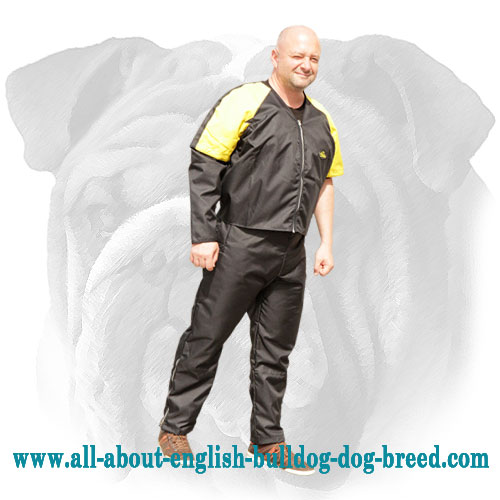 Protection Nylon Scratch Suit for English Bulldog Training