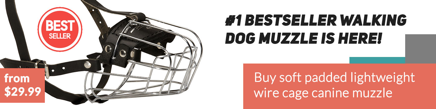 Lightweight Wire Basket Dog Muzzle for English Bulldog