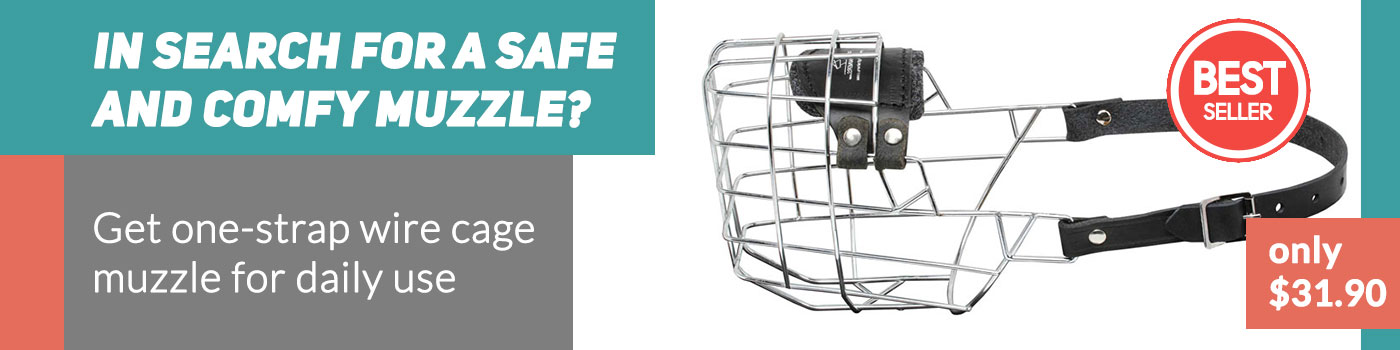 Complete Freedom Wire Basket Dog Muzzle for English Bulldog